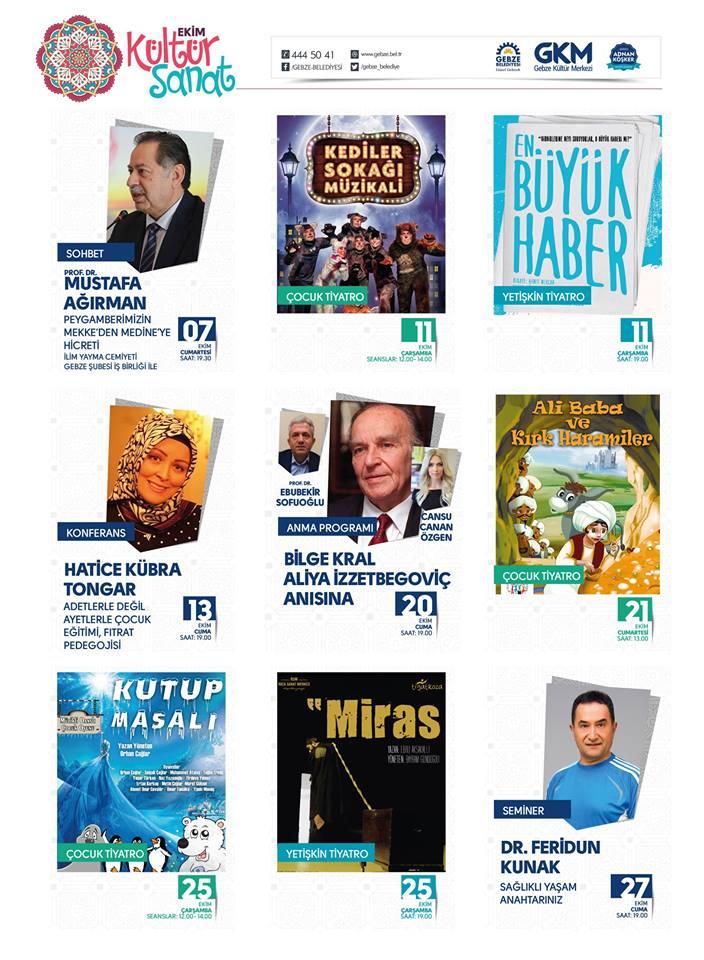 Gebze Kültür Merkezi Programı