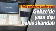 Gebze'de yasa dışı bahis oynatan 4 kişi tutuklandı