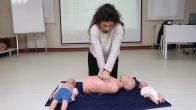 Temel ilk yardım eğitimi aldılar