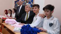 Başkan, miniklere Afrin için teşekkür etti