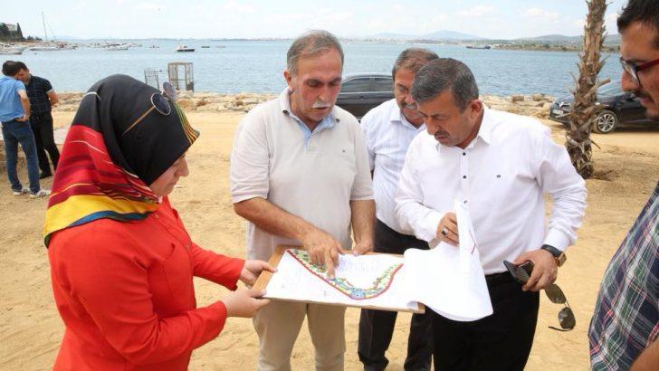Karabacak, Balyanoz Koyu Sahil düzenleme çalışmalarını denetledi