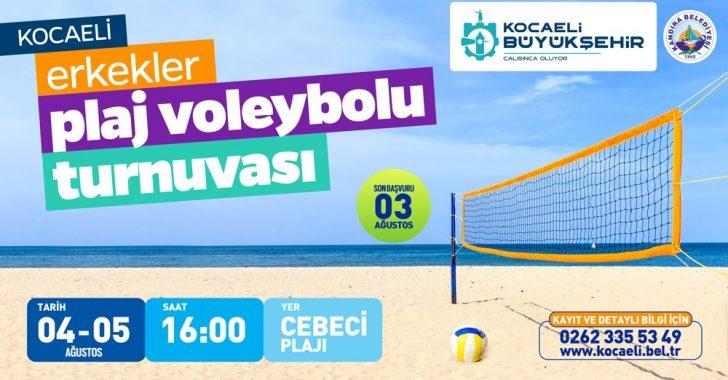 Erkekler Plaj Voleybolu Turnuvası başlıyor
