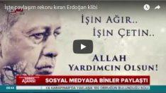İşte paylaşım rekoru kıran Erdoğan klibi