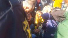 İzmit'te Yaşlı Kadına Tramvay Çarptı