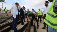 Bayram, Sekapark – Plajyolu Tramvay çalışmasını inceledi